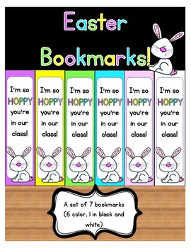 Easter Bookmarks - I'm so HOPPY you're in our class!
