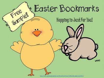 Easter Bookmarks FREEBIE