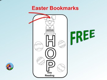 FREE Easter Bookmarks (To Color)