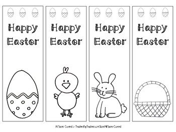 Easter Bookmarks to colour in!