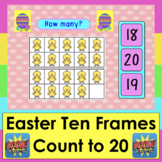 Easter Boom Cards Math Counting to 20 With Easter Ten Fram