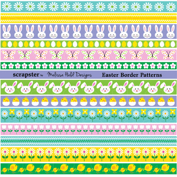 Easter Border Patterns Clipart