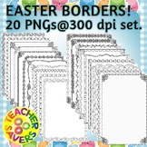 Easter Borders Clip Set Commercial and Personal Use