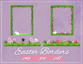 Easter Borders - Spring Easter themed page borders