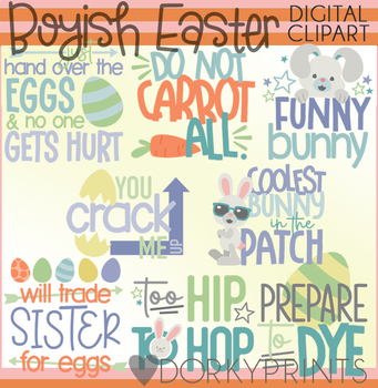 Easter Boy Title Words Clipart