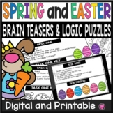 Logic Puzzles Easter Math Activities and Brain Teasers