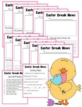 Easter Break News: Journal Prompts