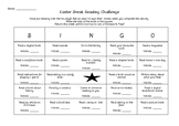 Easter Break Reading Challenge - Bingo - Homework