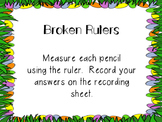 Easter Broken Ruler Task Cards