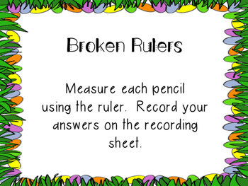 Easter Broken Ruler Task Cards