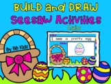Easter Build, Write and Draw a Sentence Seesaw Activity