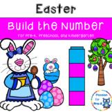 Easter Build the Number - Pre-K, Preschool, and Kindergarten