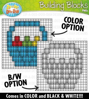 Easter Building Blocks Clipart {Zip-A-Dee-Doo-Dah Designs}