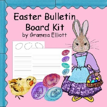 Easter Bulletin Board Kit Color and Ready to Color