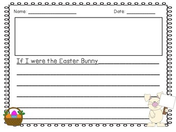 Easter Bulletin Board & Writing Activity