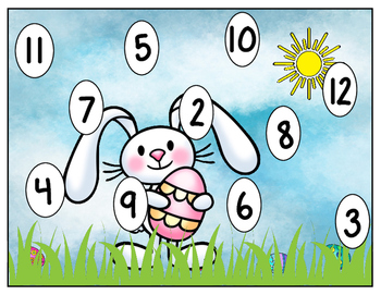 Easter Bump:  An Adding, Number Recognition, and Subitizing Game