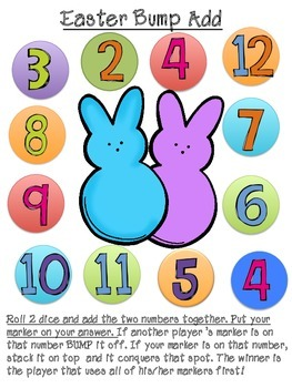 Easter Bump Basic Addition & Subtraction