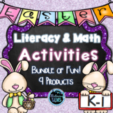Easter Activities Math and Literacy for Kindergarten and First Grade