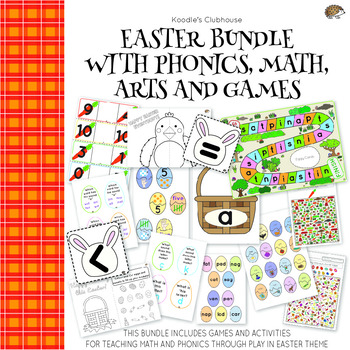 Easter Bundle For Phonics, Math, Arts and Games