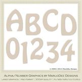 Easter Bunnies Candy Cream Light Tan Alpha & Number Graphics