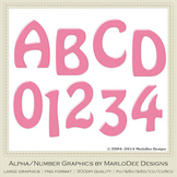 Easter Bunnies Candy Pink 1 Alpha & Number Graphics