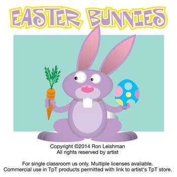 Easter Bunnies Cartoon Clipart