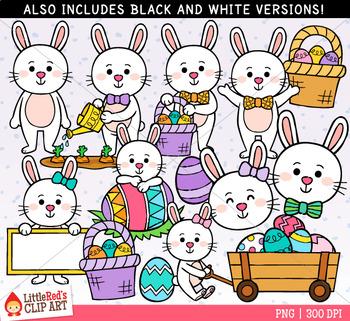 Easter Bunnies Clip Art