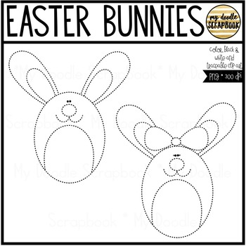 Easter Bunnies FREEBIE (Clip Art for Personal & Commercial Use)