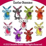 Easter Bunnies Clip Art by Jeanette Baker