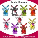 Easter Bunnies Clip Art by Jeanette Baker