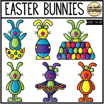 Easter Bunnies (Clip Art for Personal & Commercial Use)