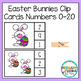 Easter Bunnies Clip Cards Numbers 0-20