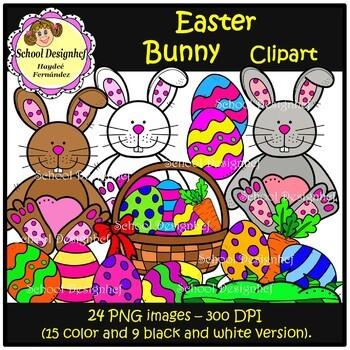 Easter Bunnies Clip Art (School Designhcf)