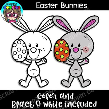 Easter Bunnies Clipart {Scrappin Doodles Clipart}