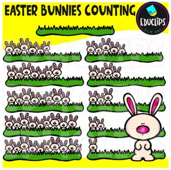Easter Bunnies Counting Clip Art Bundle  {Educlips Clipart}