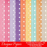 Easter Bunnies Digital Papers 1 A4 Size Cardstock & Polka Dots