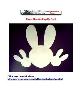 Easter Bunnies Pop Up Card