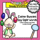 Easter Bunnies Spy Sight Words:  NO PREP Easter Themed I Spy Game