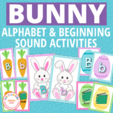 Easter Bunny Activities | Bunny Alphabet and Beginning Sound Matching Activity