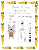 Easter Bunny Activities (for speech therapy practice)