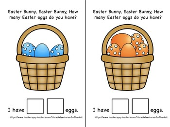 Easter Bunny Adapted Counting Book - Autism