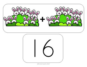 Easter Bunny Addition Matching Game