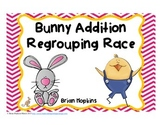 Easter Bunny Addition Regrouping Task Cards