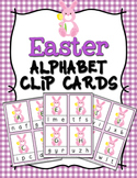 Easter Bunny Alphabet Clip Cards