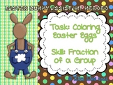 Easter Bunny Assistant Coloring Fractions of Eggs