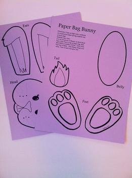 Easter Bunny Bag Printable