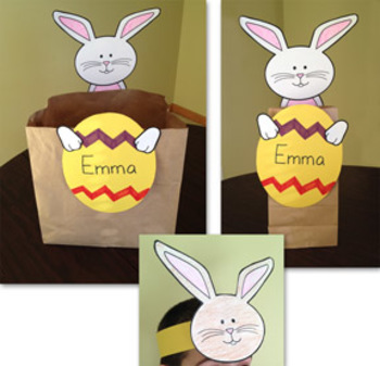 Easter Bunny Bag and Bunny Headband