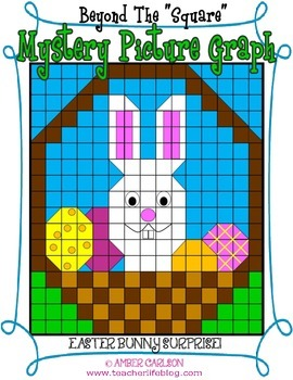 Easter Bunny Basket {Beyond the Square- Mystery Picture Graph}
