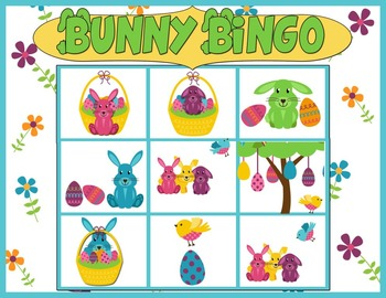 SALE! Easter Bunny Bingo: Prepositions