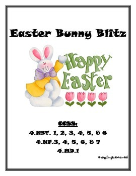 Easter Bunny Blitz:  A Math Relay for Kids